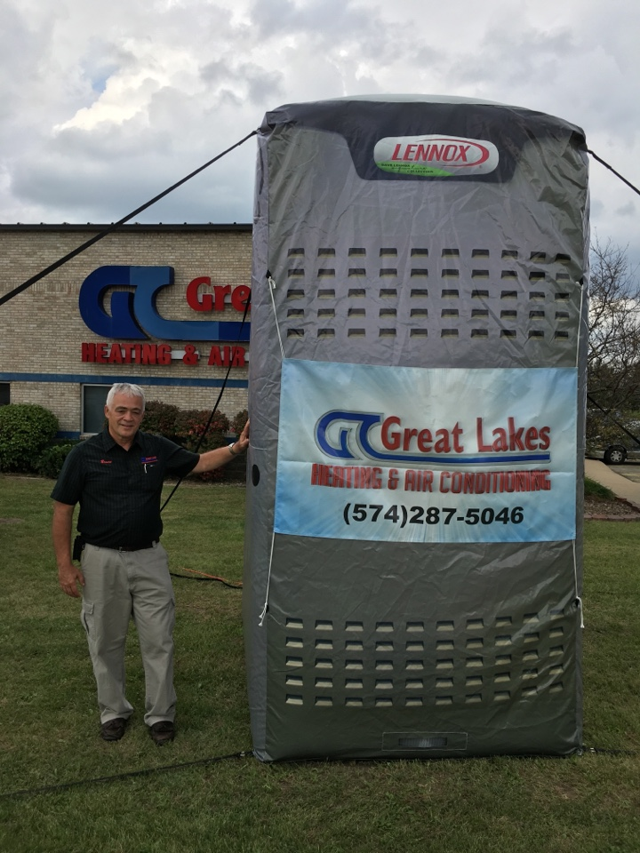 South Bend, IN - Great furnace deals at our annual Fall Open House! Disclaimer: actual heaters are not this big. But our discounts and deals are!  Act fast!