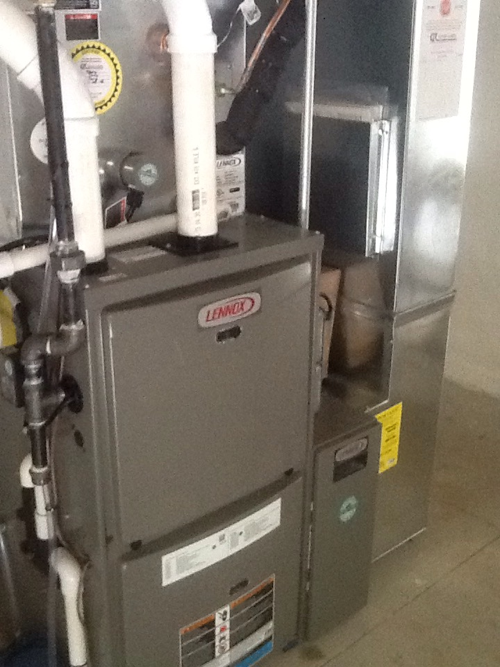 Heating ac electricians la porte in great lakes la porte in installed lennox furnace ac media air cleaner new sciox Images