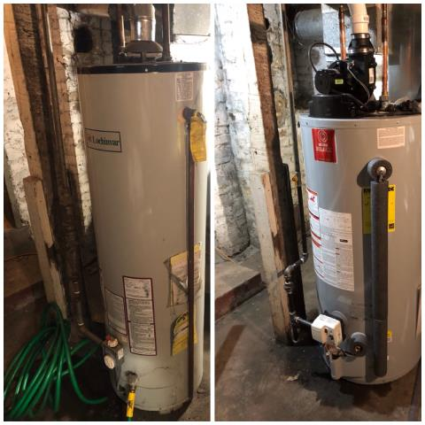 South Bend, IN - Before/ After 40 allow power vent water heater