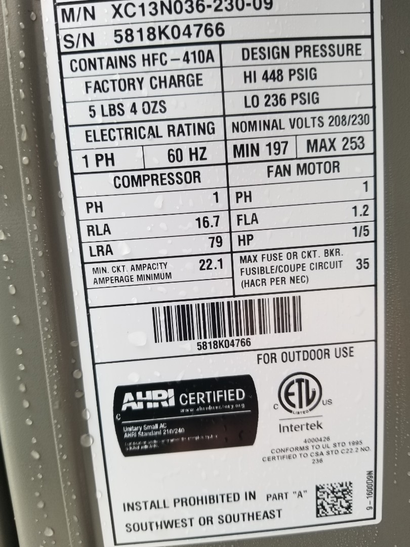 Bothell, WA - Electrical call back change breaker size to35 A