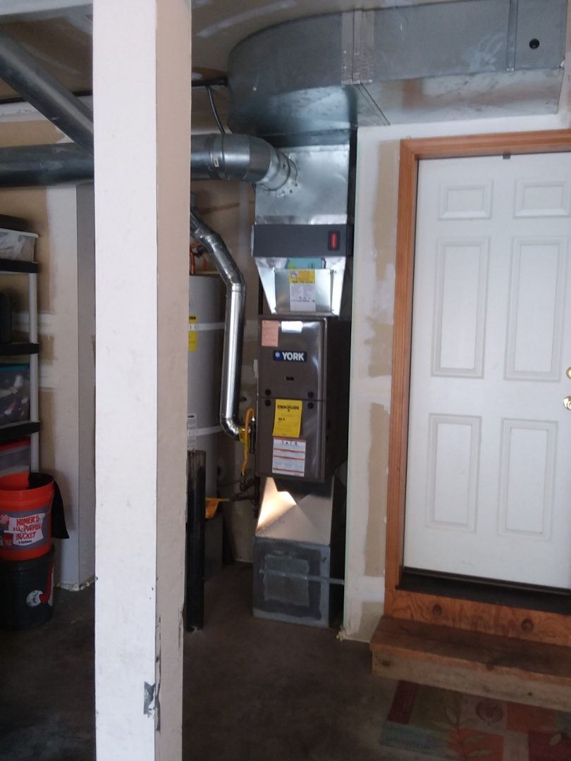 Everett, WA - Just finished installation of the New, York 80% single stage furnace in Everett