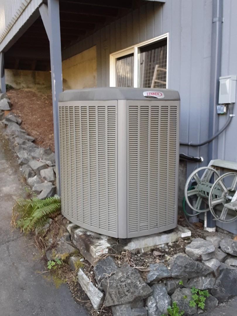 Monroe, WA - Performed leak search on a Lennox heat pump in Monroe
