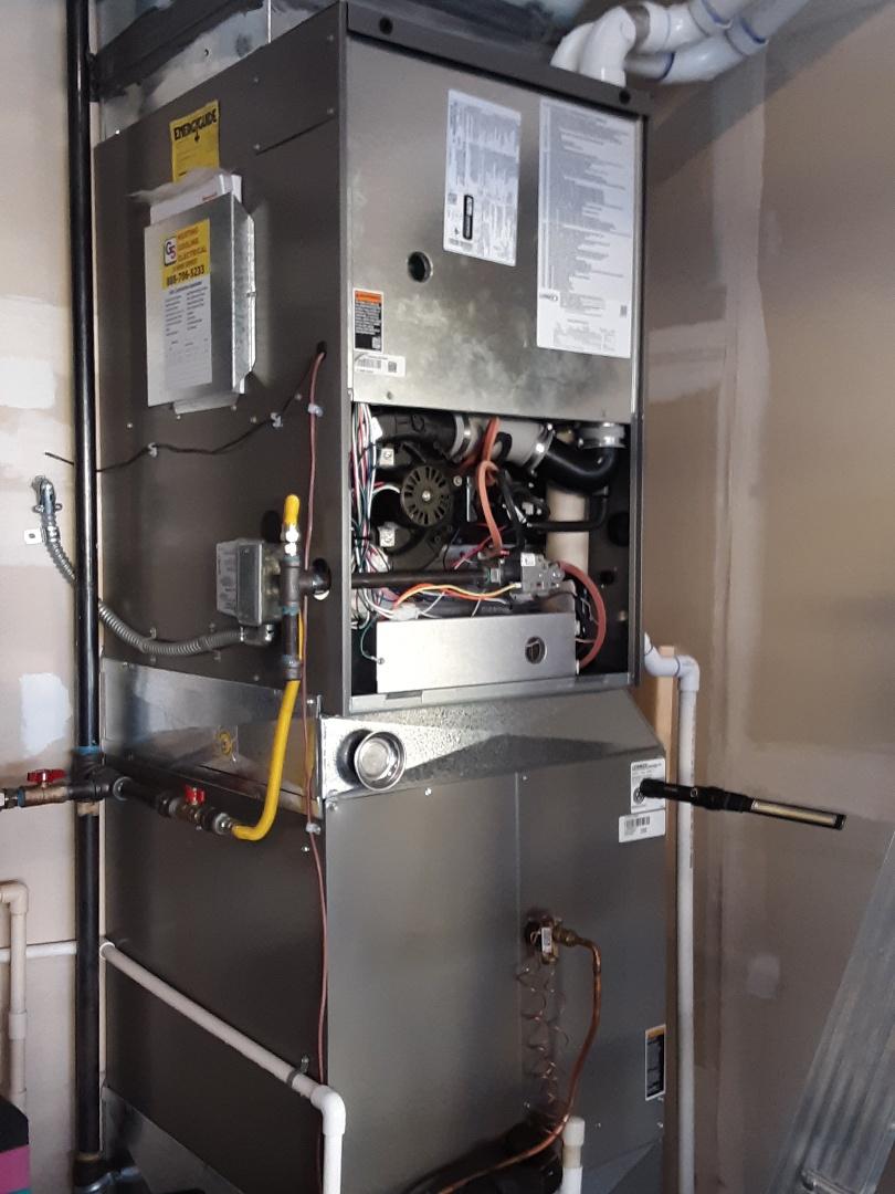 Monroe, WA - Performed maintenance on a 90% efficiency Lennox gas furnace in Monroe