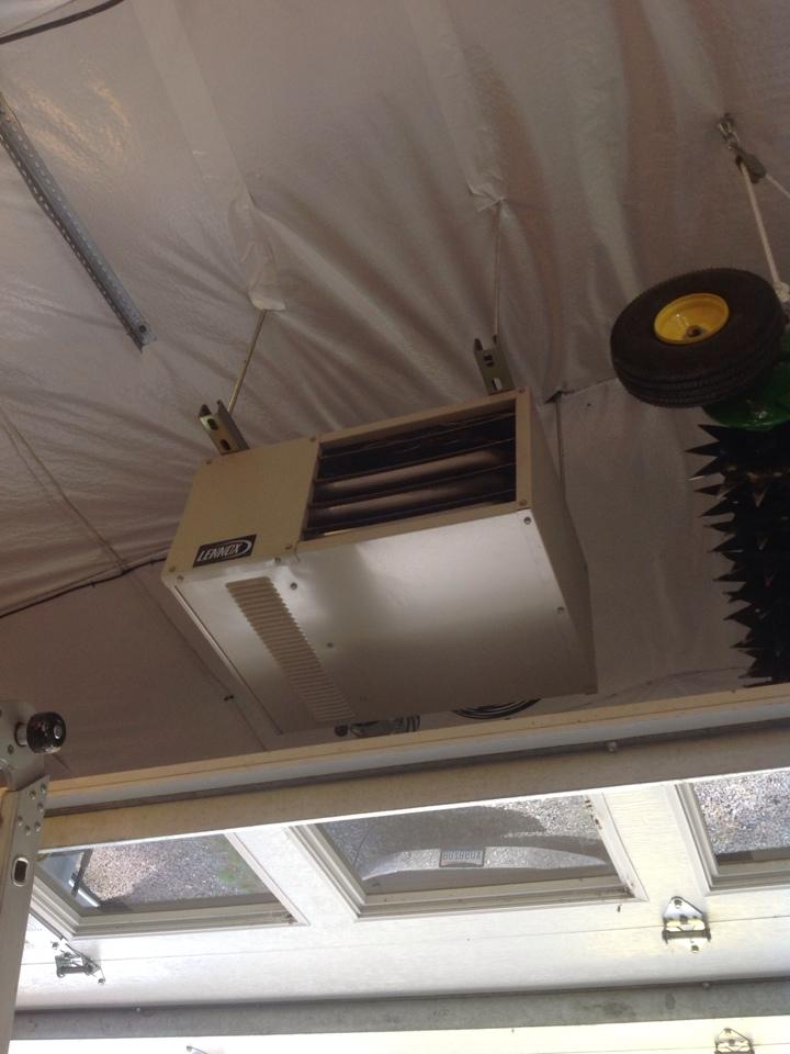 Monroe, WA - Routine maintenance on a Lennox unit heater.