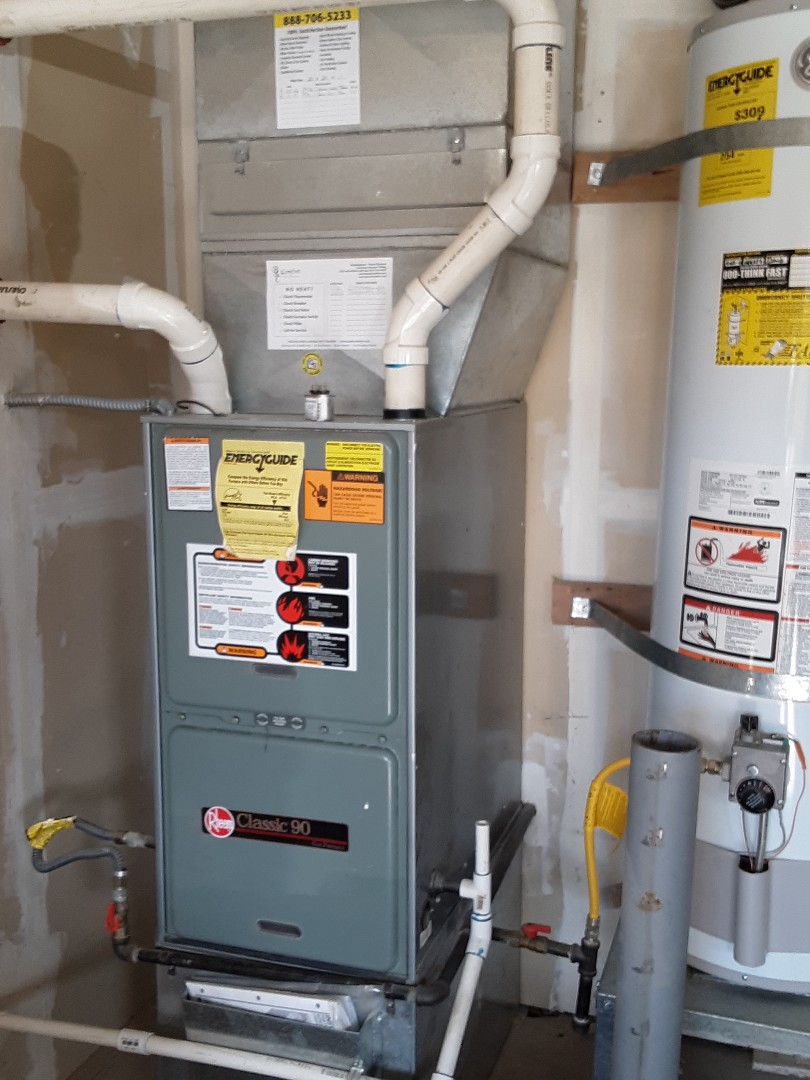 Mukilteo, WA - Precision tune up on a Rheem 90% efficiency gas furnace in Marysville