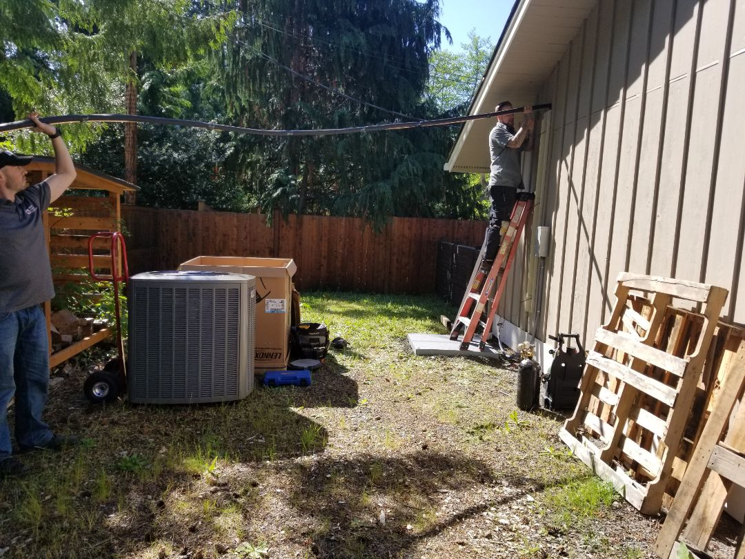 Edmonds, WA - Electrical install new AC system and furnace upgrade plus surge protection