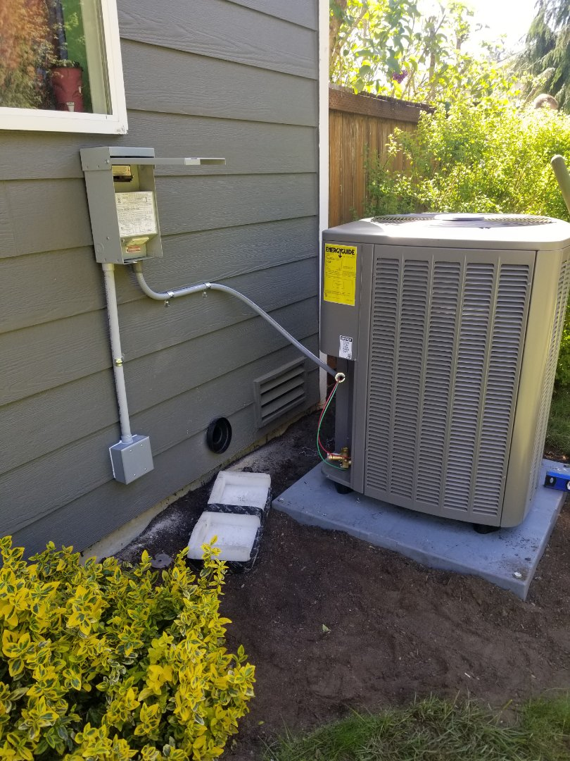 Arlington, WA - Electrical install new AC system and furnace upgrade