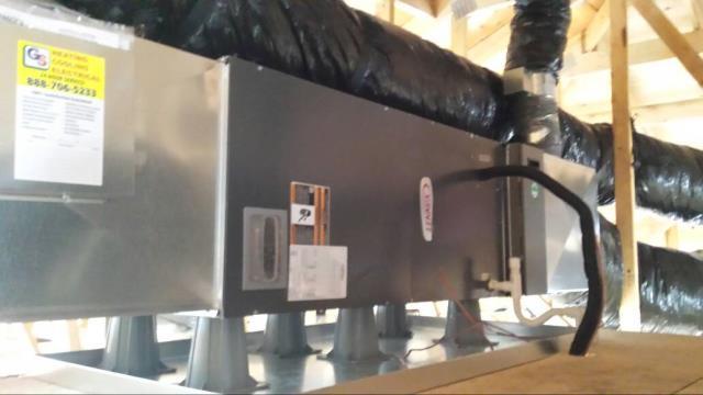 Lynnwood, WA - New Lennox cooling system for a new construction in Lynnwood Washington.