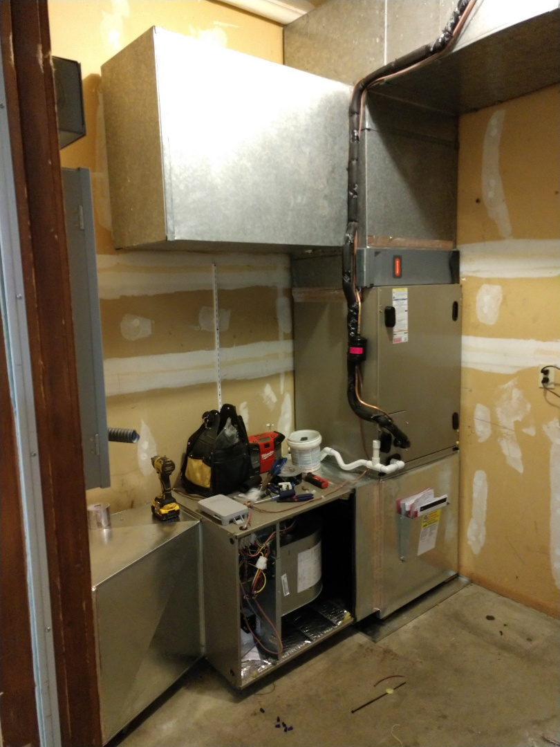 Everett, WA - Commercial install of carrier heat pump x2