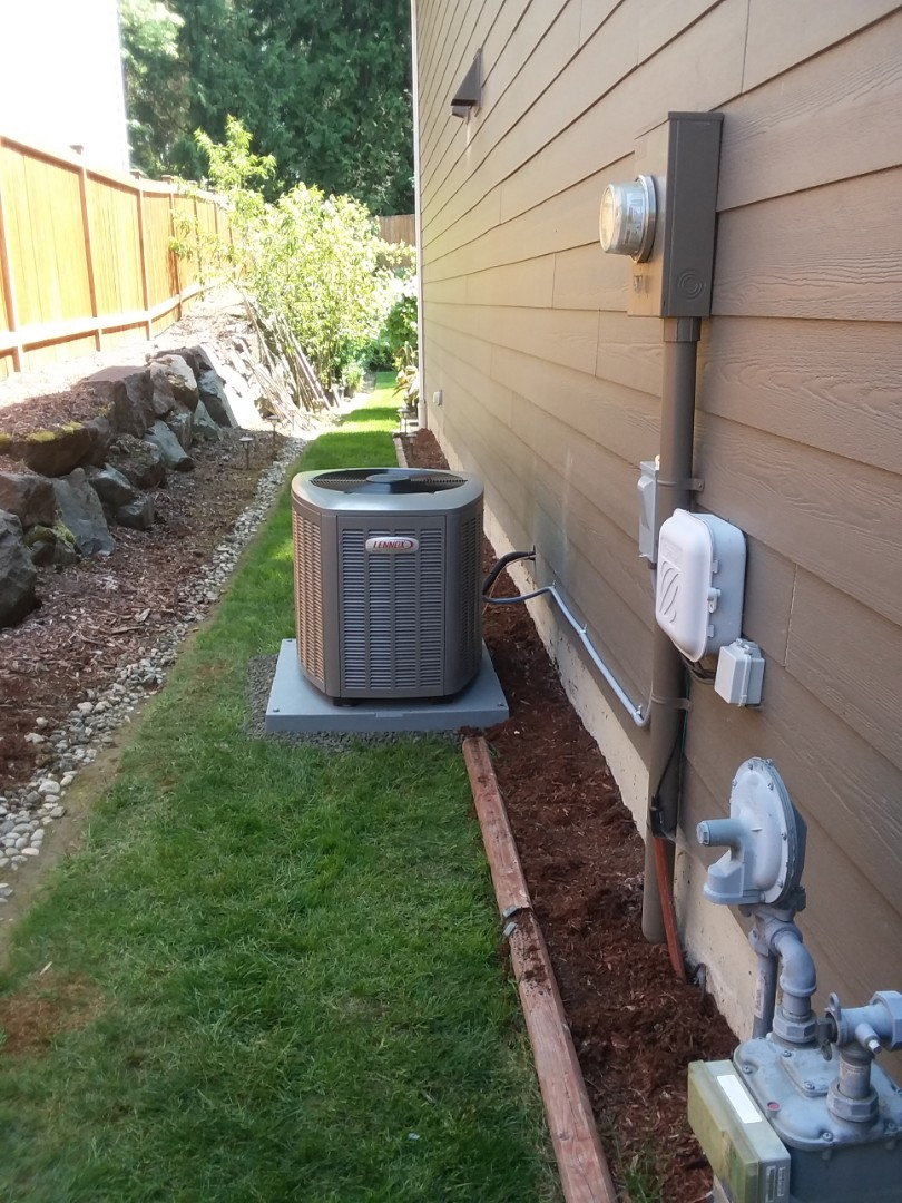 Lake Stevens, WA - Just arrived to finish installing Lennox 3 ton AC unit and add return air for customers in Lake Stevens