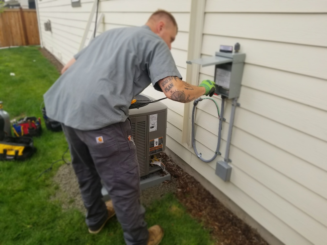 Lake Stevens, WA - Electrical install new AC system and furnace upgrade