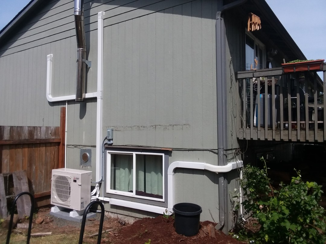 Tulalip, WA - Just finished installing a three head ductless mini split heat pump system made by Mitsubishi in Marysville