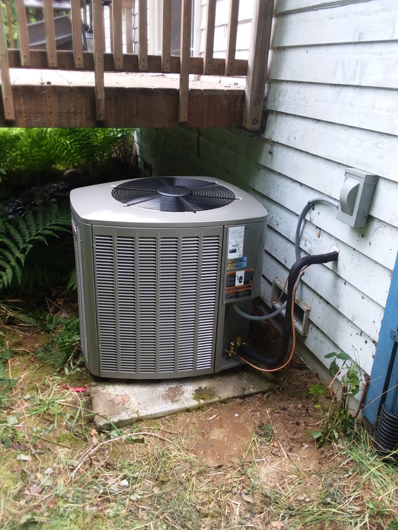 Monroe, WA - Just finished installing a two ton Lennox heat pump system with new air handler in Monroe