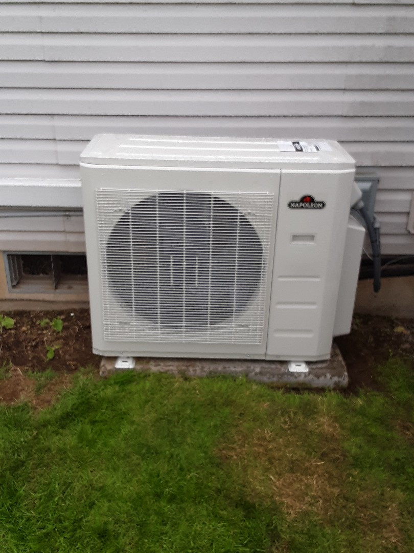 Granite Falls, WA - Replaced outdoor heat pump on a Napoleon ductless system in granite falls