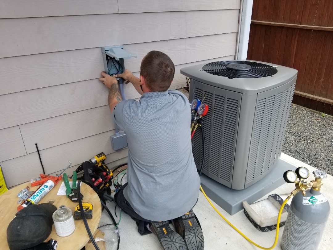 Marysville, WA - Electrical install new AC system and furnace upgrade