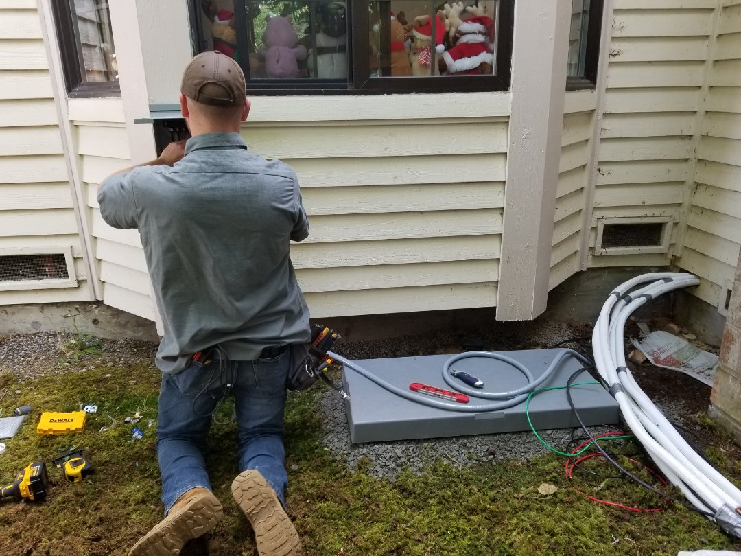 Brier, WA - Electrical install new AC system ductless type.