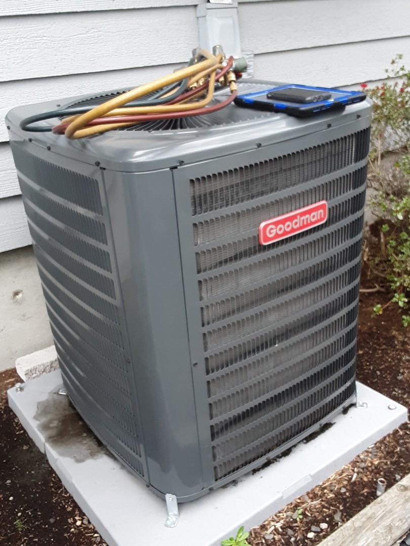 Everett, WA - Planned maintenance on a Goodman heat pump in Everett