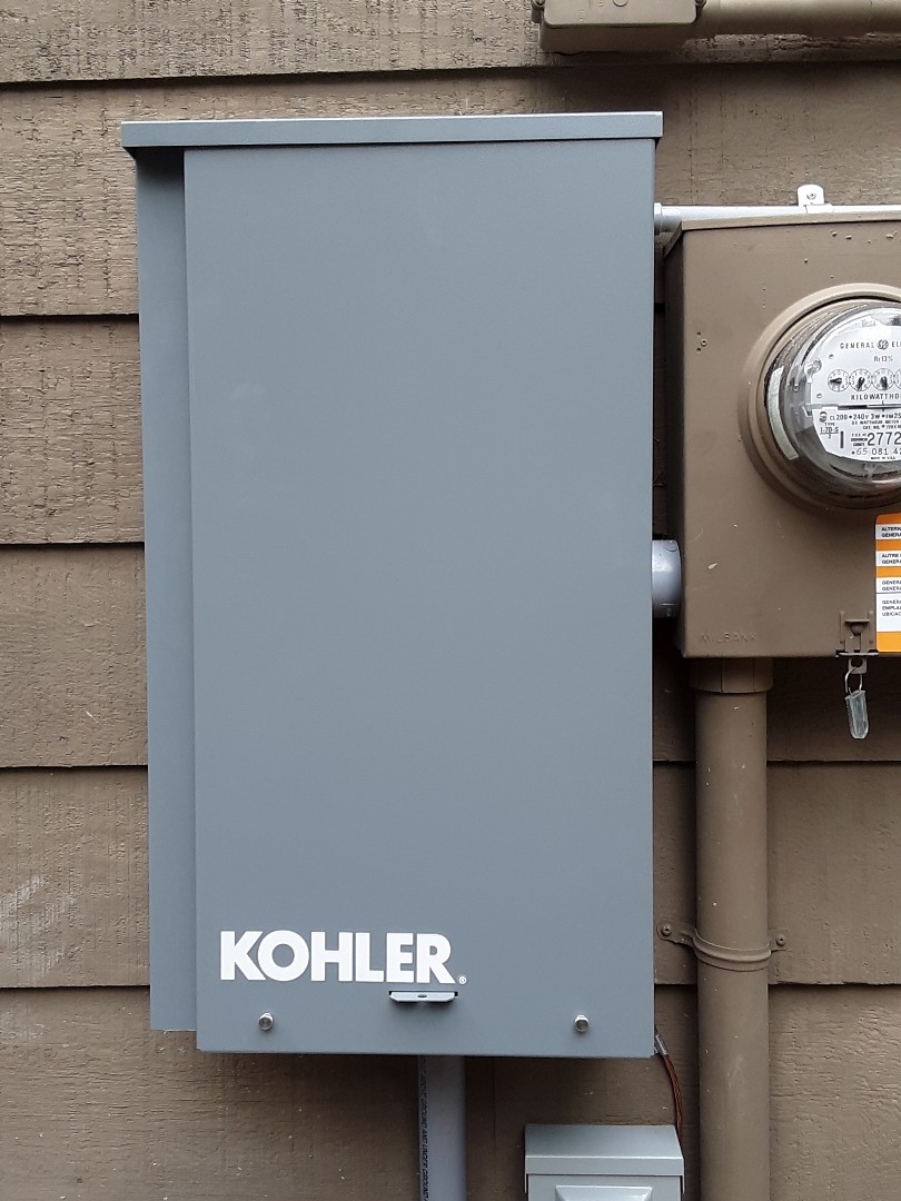 Marysville, WA - ELECTRICIAN installing a Kohler 20kw home stand bye generator with automatic transfer switch in Marysville