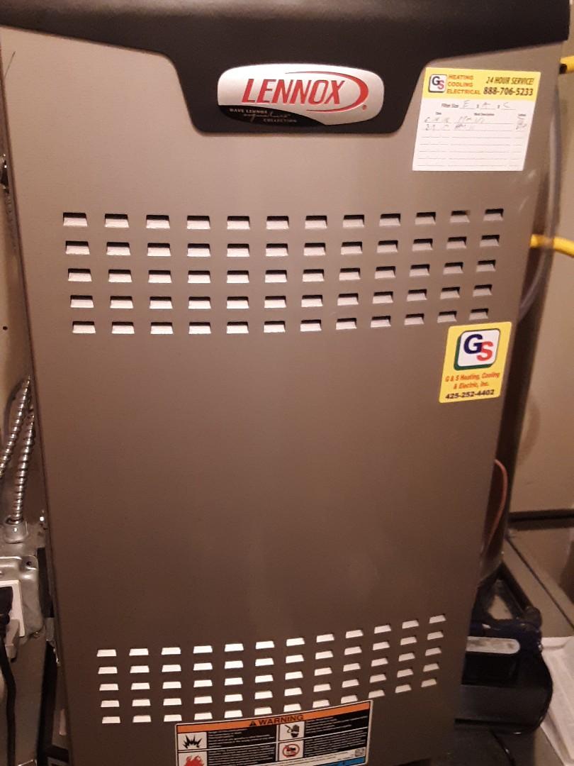 Edmonds, WA - Planned maintenance on a Lennox gas furnace in Edmonds