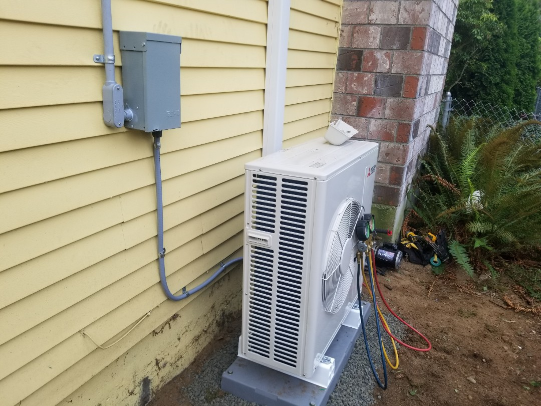 Lynnwood, WA - Electrical install new heat pump system and disconnect