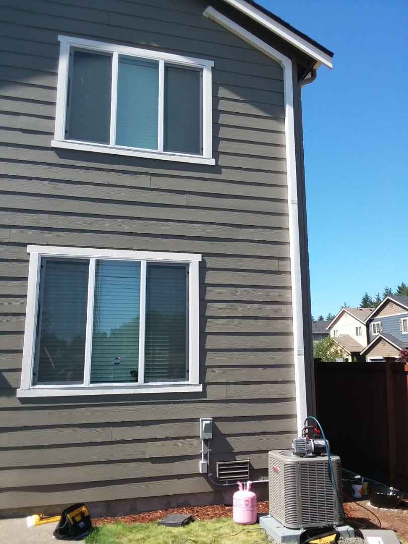 Bothell, WA - Just finishing up a 2-ton AC add-on using Lennox products in Bothell customers happy to have AC for hot summer months