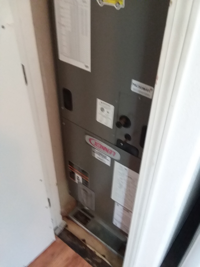 Arlington, WA - Just finished installation of a new Lennox 2 and 1/2 ton electric air handler furnace customer happy to have heat again