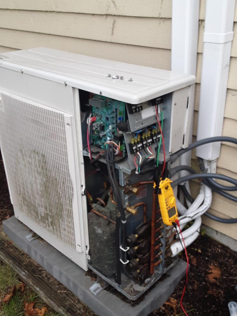 Bothell, WA - Performed a tune-up on a two head Mitsubishi ductless heat pump in Bothell