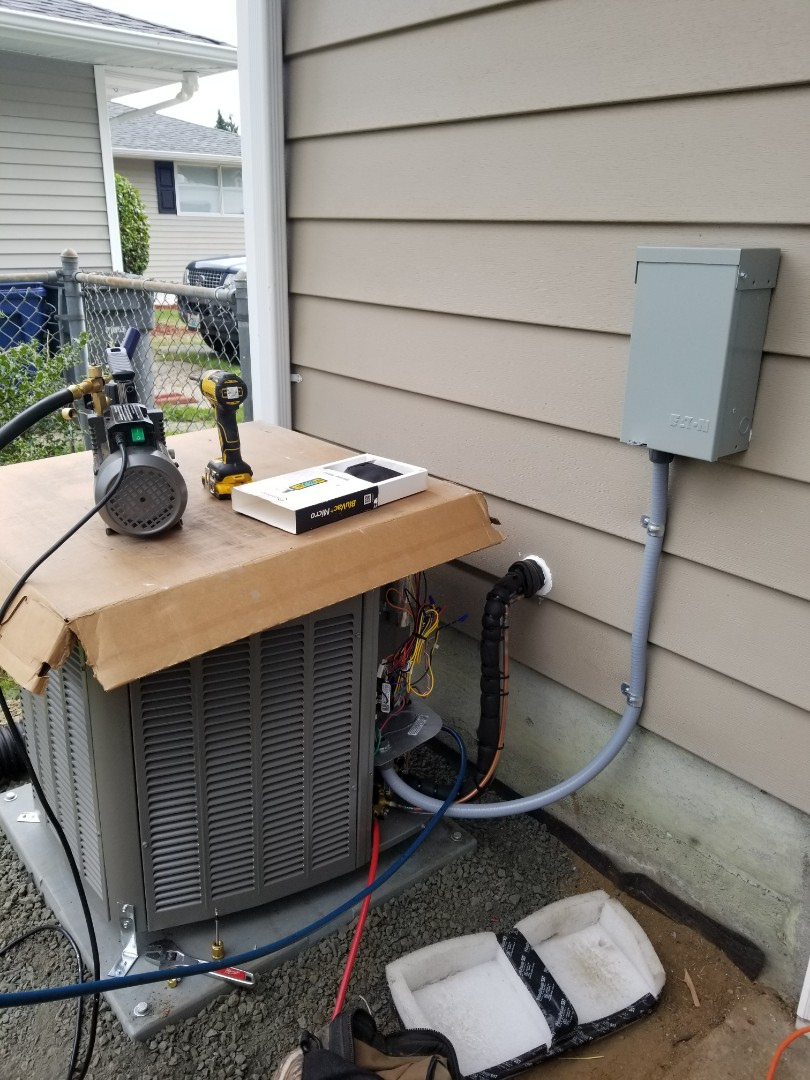 Mountlake Terrace, WA - Electrical install new AC system and furnace upgrade