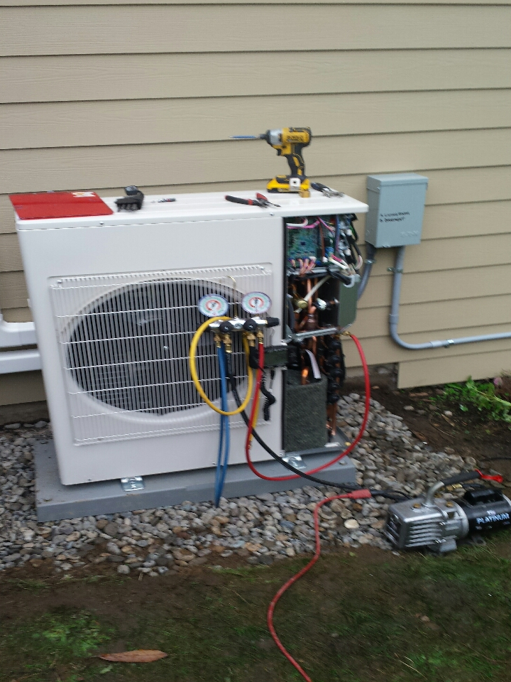Monroe, WA - electrician. wiring for new Mitsubishi mini split ductless heat system