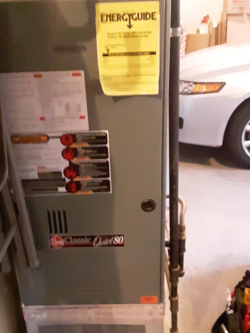 Everett, WA - Tune up on a Rheem gas furnace in lake Stevens