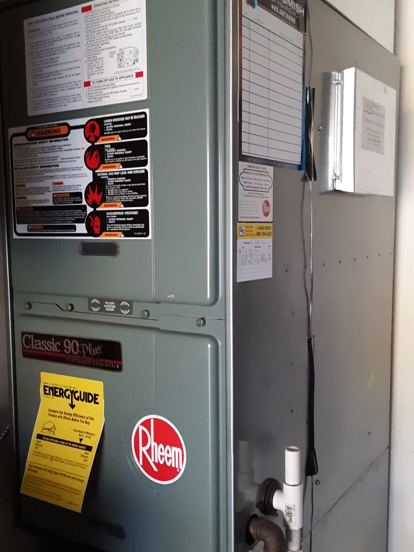 Everett, WA - Planned maintenance on a Rheem gas furnace in Everett