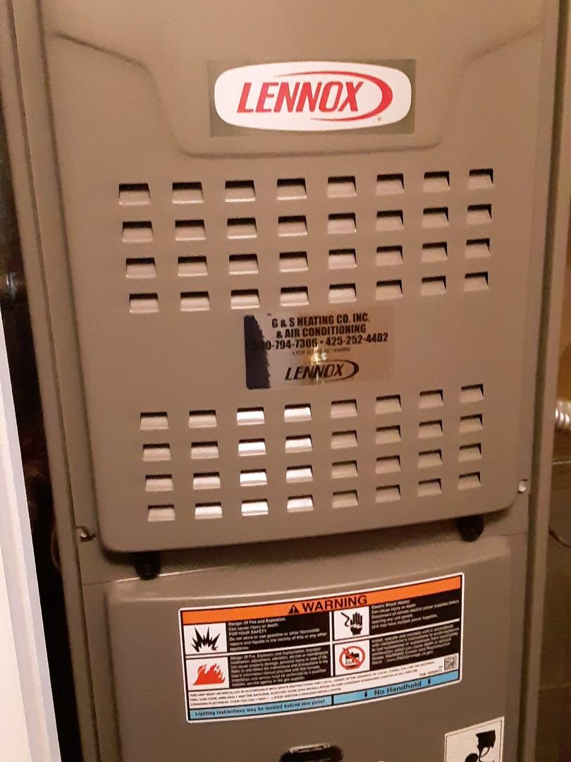 Lynnwood, WA - Planned maintenance on a Lennox gas furnace in Lynnwood