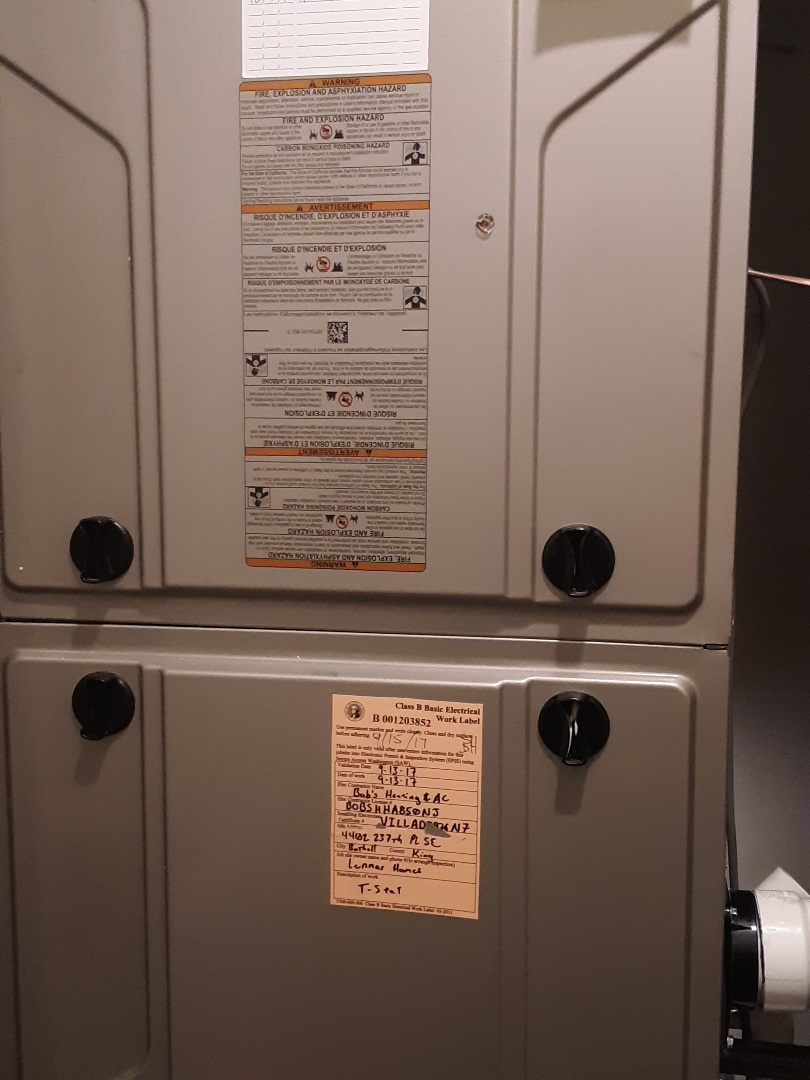 Bothell, WA - Maintenance on a Bryant gas furnace in Bothell