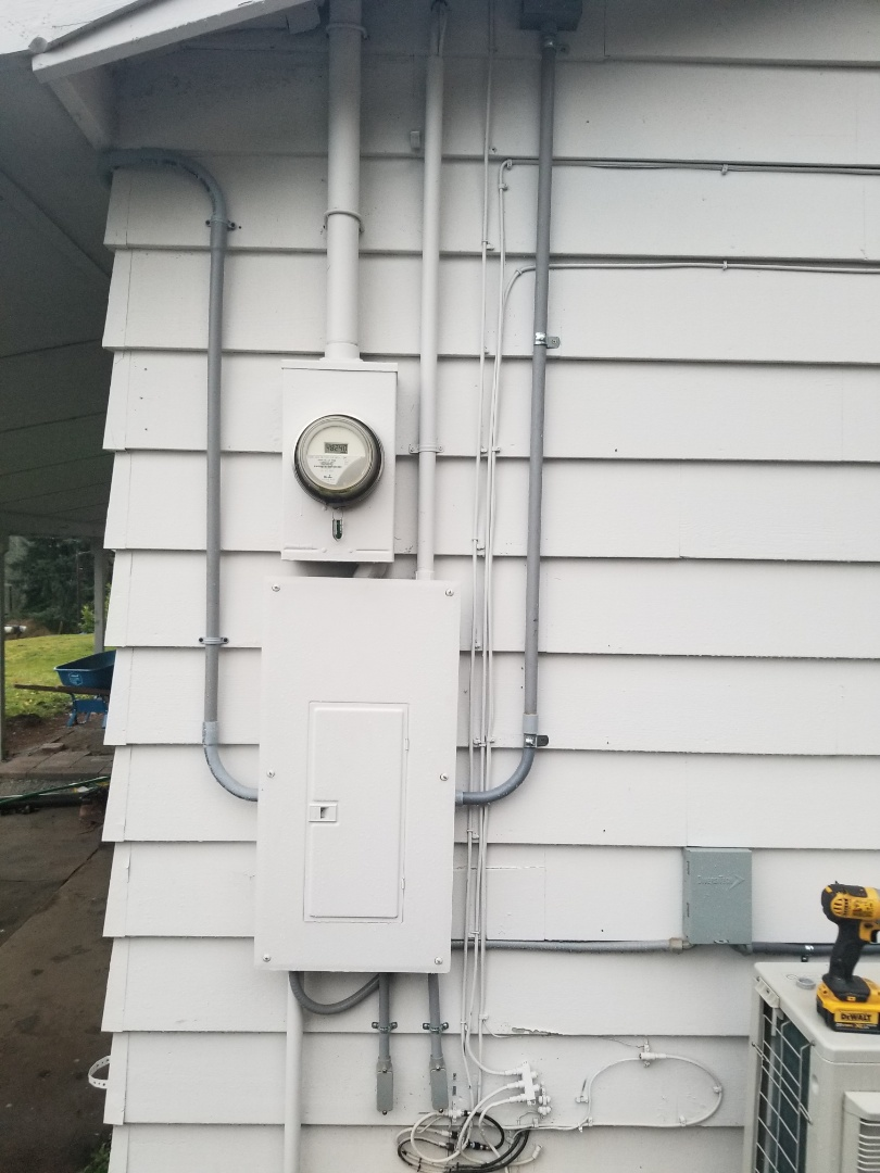Snohomish, WA - Providing an electrical estimate to replace an indoor electrical panel that was installed outdoors with a new Square D outdoor rated panel, along with a new Sauna circuit, in Snohomish
