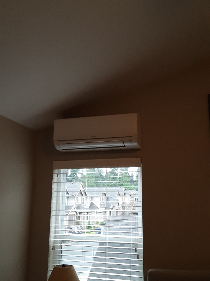 Bothell, WA - Tune-up on a Mitsubishi air conditioner in Bothell