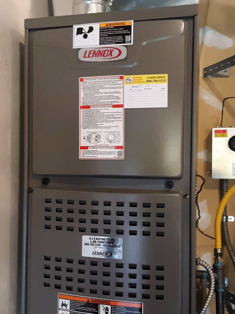 Lynnwood, WA - Planned maintenance on a Lennox gas furnace in Lynnwood