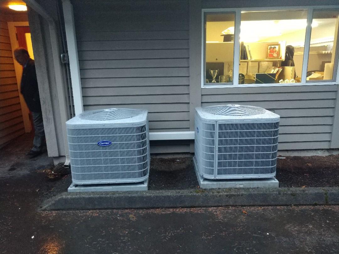 Bothell, WA - Commercial heat pump install Lynnwood Wa