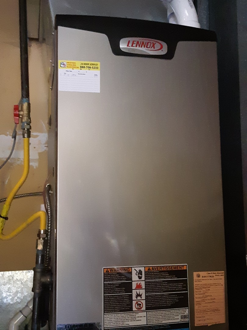 Edmonds, WA - Performed planned maintenance on a Lennox gas furnace in Edmonds