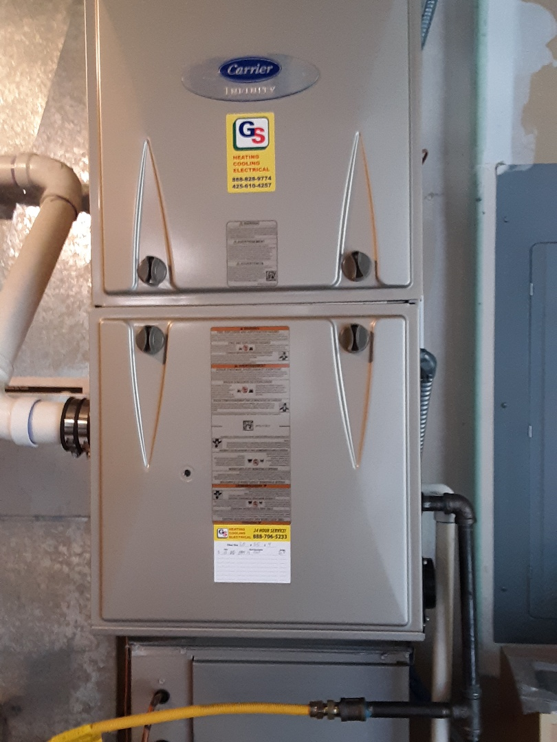Edmonds, WA - Performed routine planned maintenance on a carrier gas furnace in Edmonds