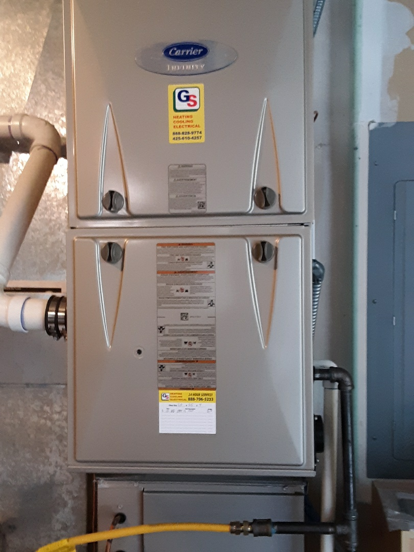 Bothell, WA - Performed routine planned maintenance on a carrier gas furnace in Bothell