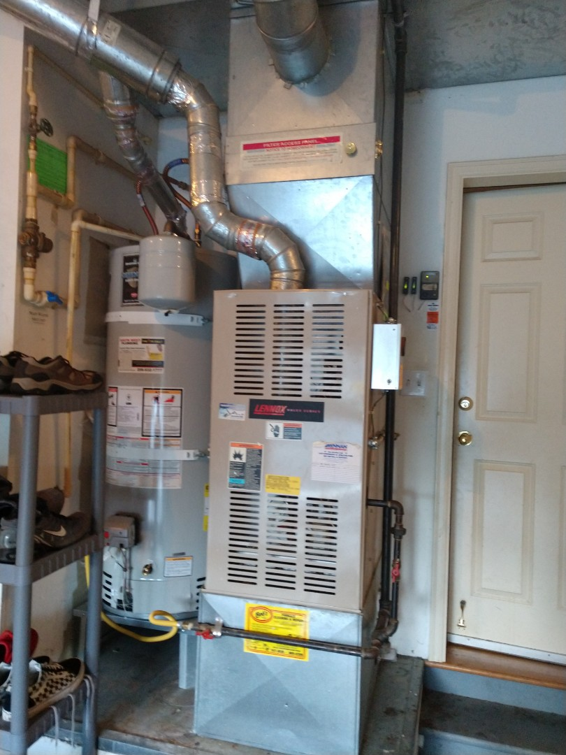 Mill Creek, WA - Replacing an 80% efficiency gas furnace in Mill Creek. The proposal is a sleek new Lennox SL280V with a multi function thermostat!
