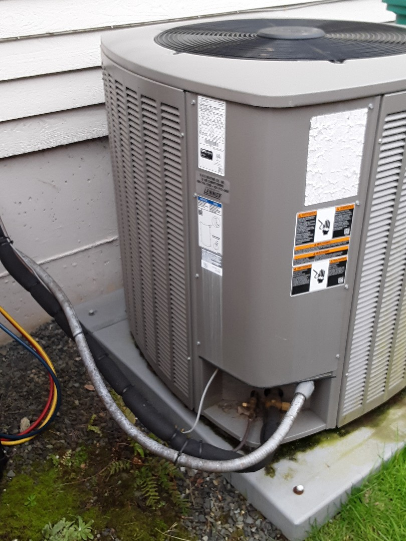 Lynnwood, WA - Performed routine planned maintenance on a Lennox heat pump system and briar