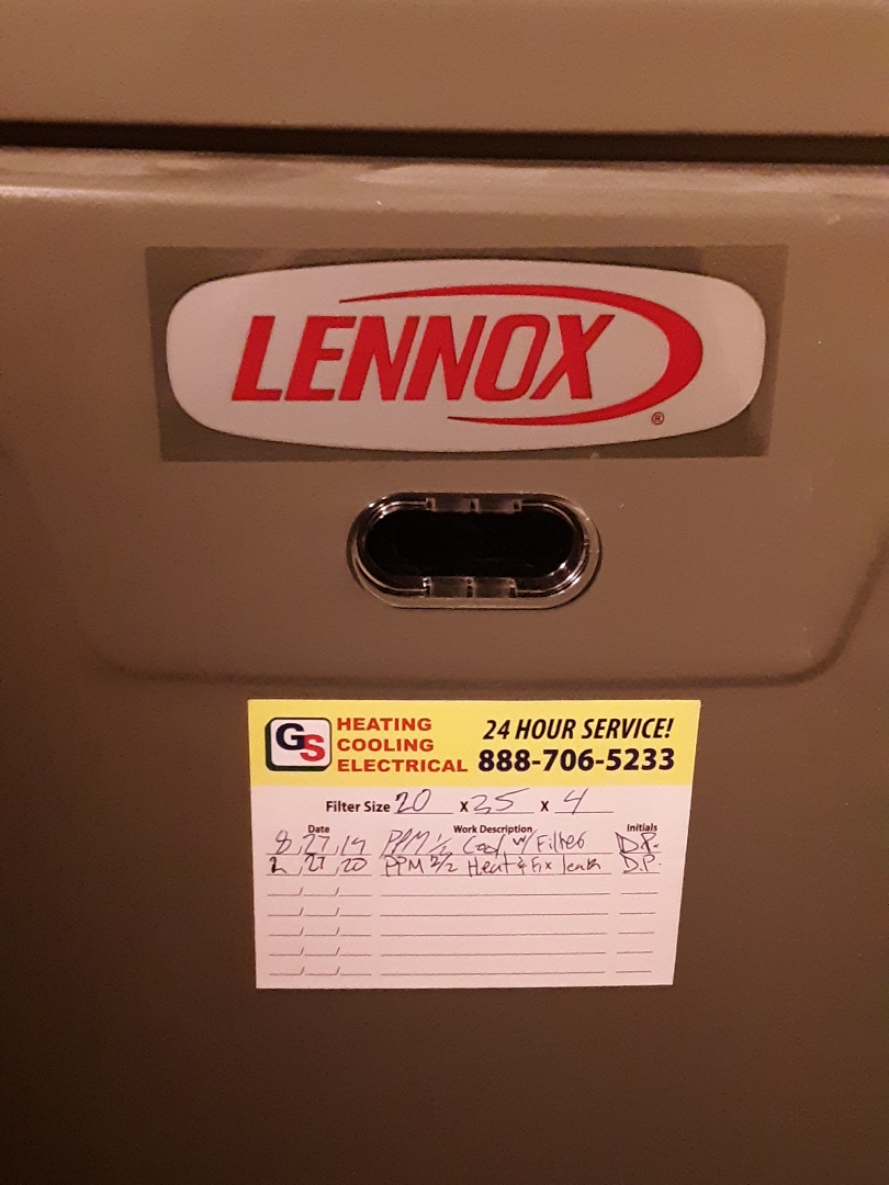 Edmonds, WA - Performed routine plan to maintenance on a Lennox gas furnace in Edmonds