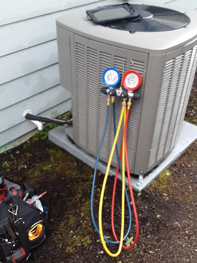 Snohomish, WA - Maintenance on a Lennox heat pump