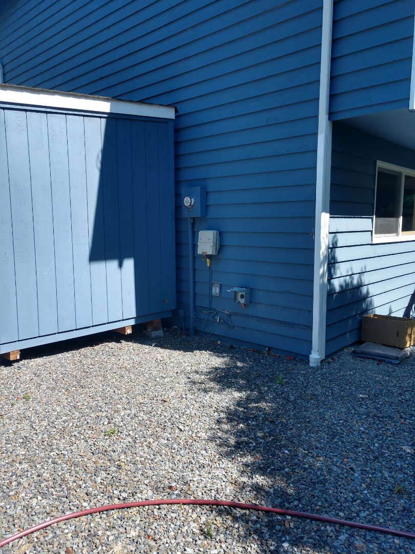Bothell, WA - Bid for a whole new Lennox air handler and heat pump system. Here's the spot for the heat pump!
