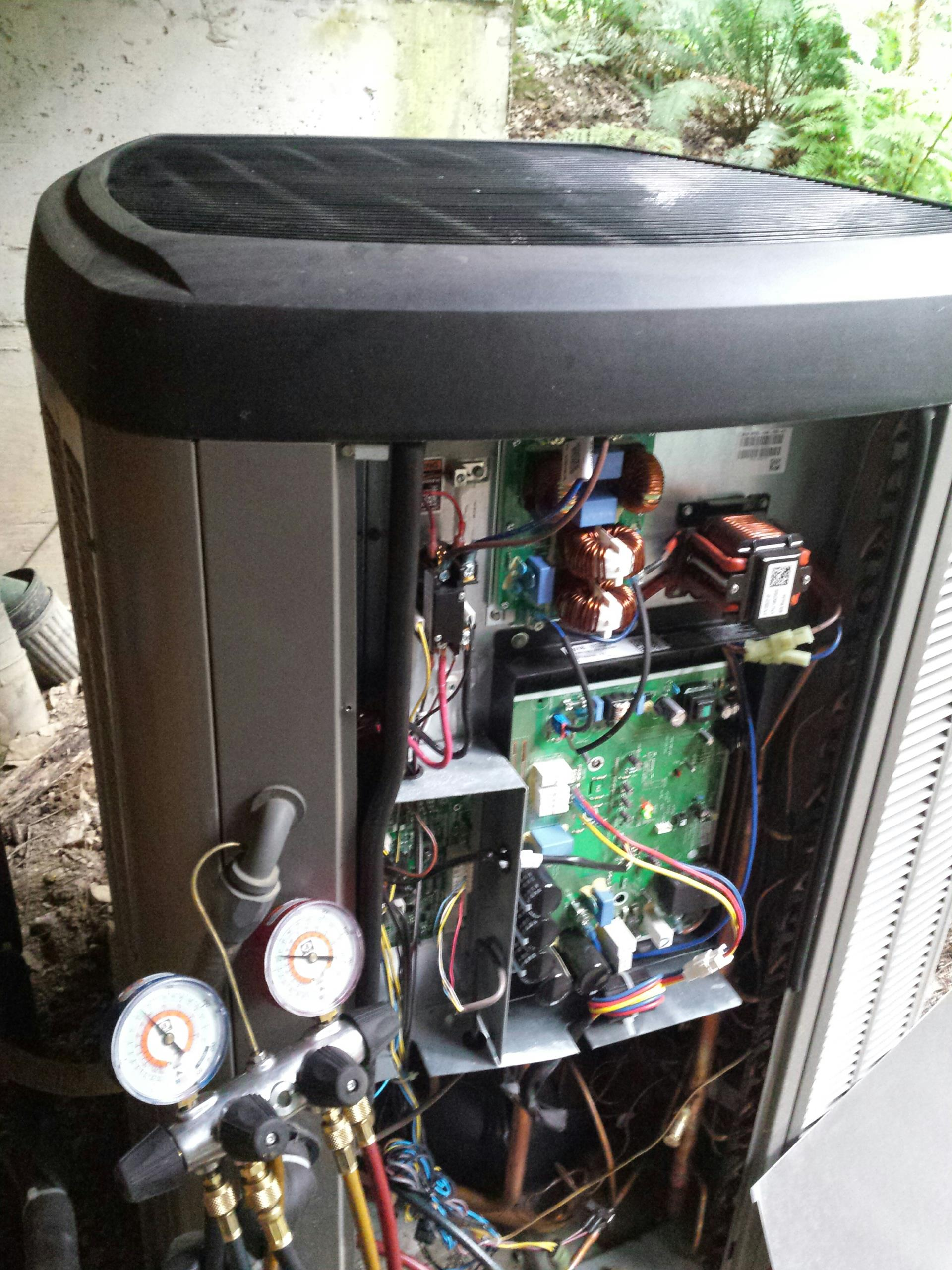 Monroe, WA - Doing planned service on a high efficiency heat pump in air conditioning.