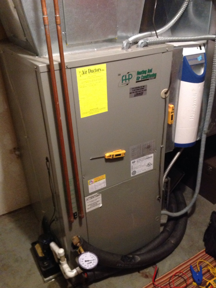 Monroe, WA - Bi-Annual maintenance on a Florida Heat Pump Geothermal heat pump and air conditioning system. Monroe, WA.