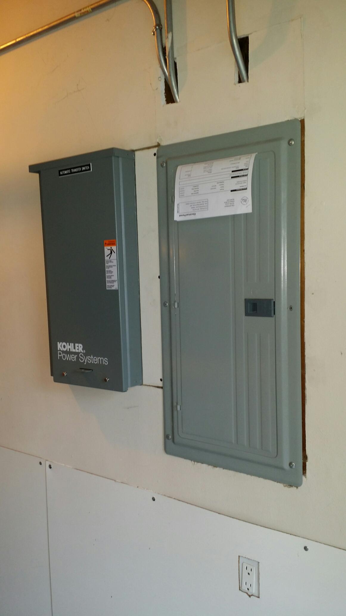 Kirkland, WA - Electrician. Electrical install of a 14kw Kohler generator system. Kirkland