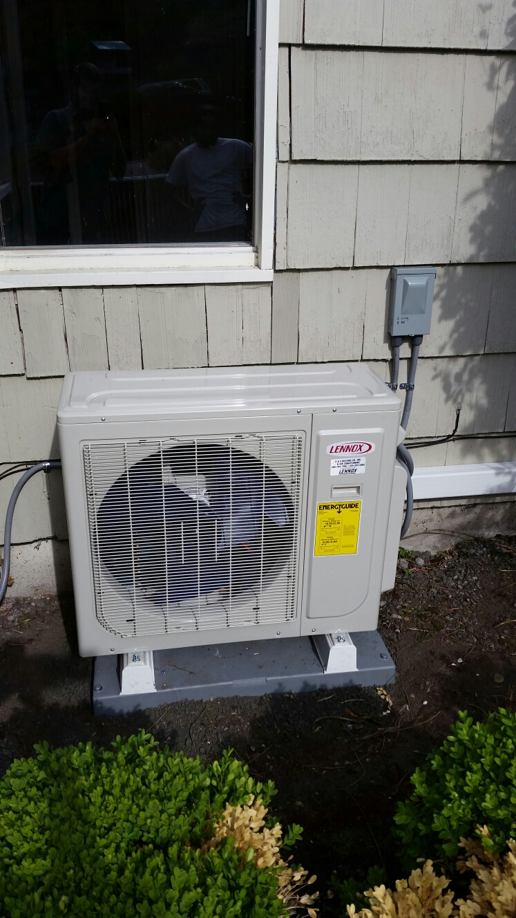 Shoreline, WA - Ductless install. Took out existing air handler and duct work. Installed 2 head ductless system