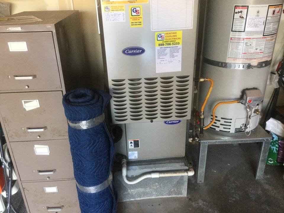 Monroe, WA - Carrier gas furnace service Monroe